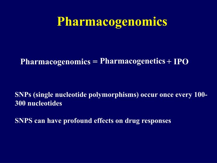 essay on pharmacogenomics Pharmacogenomics, an important part of precision medicine, is the study of how a person's genetic makeup can affect their response to a drug health care.