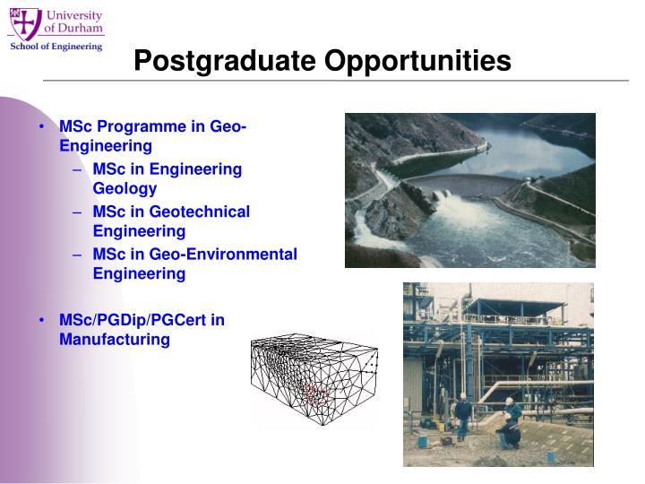 Postgraduate Opportunities