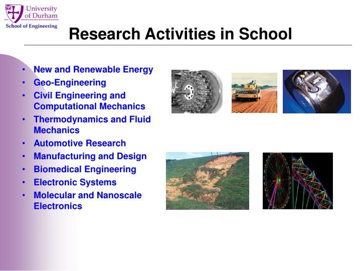 Research Activities in School
