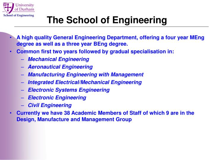The school of engineering