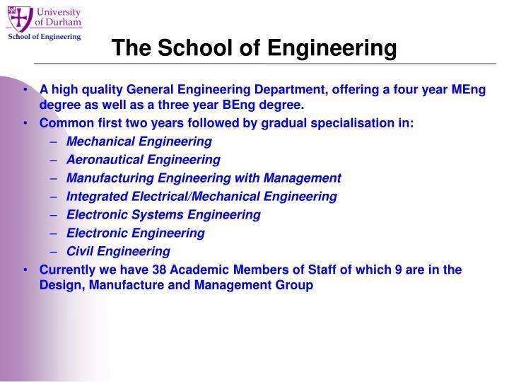 The School of Engineering