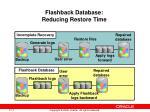 flashback database reducing restore time