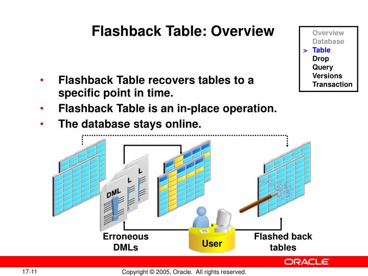Flashback Table: Overview
