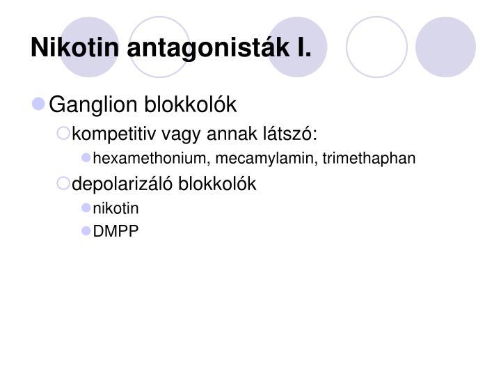Nikotin antagonisták I.