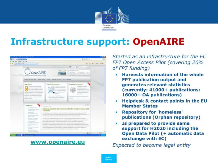 Infrastructure support: