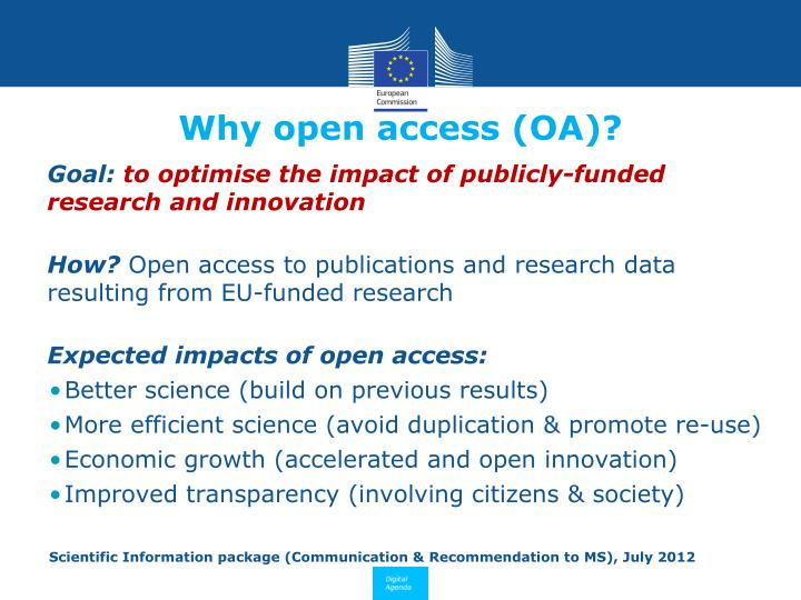 Why open access (OA)?