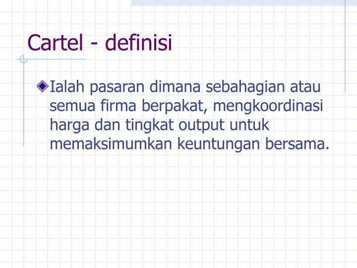 Cartel - definisi