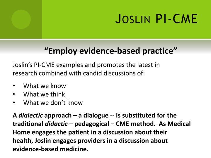 Joslin PI-CME