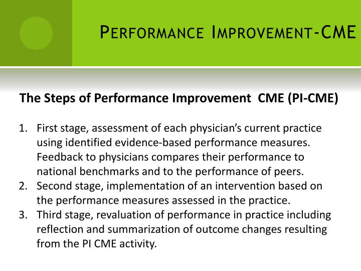 Performance Improvement-CME