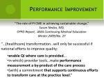 performance improvement14