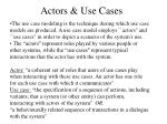 actors use cases