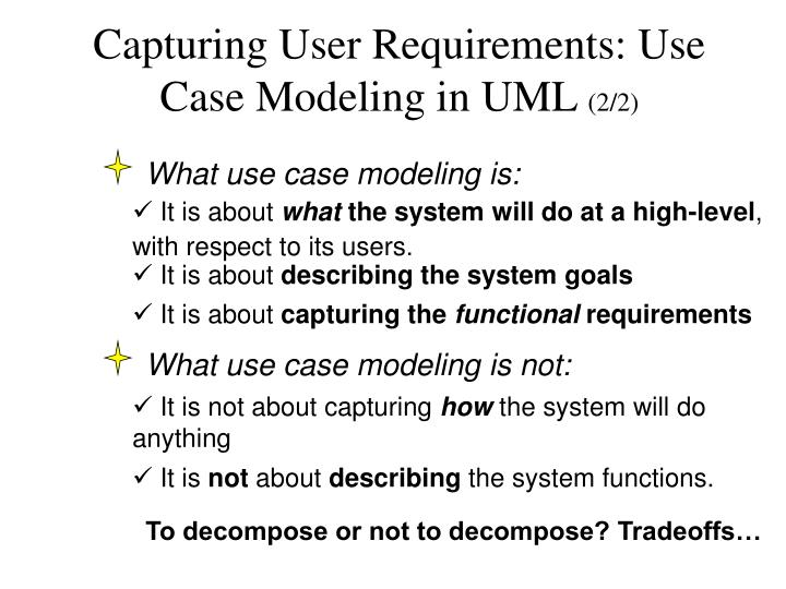 Capturing User Requirements: Use Case Modeling in UML