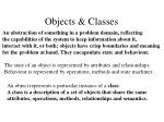 objects classes