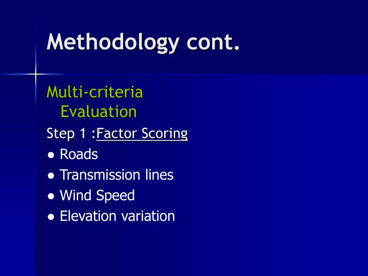Methodology cont.