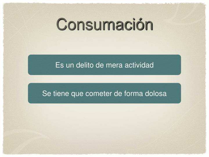 Consumación