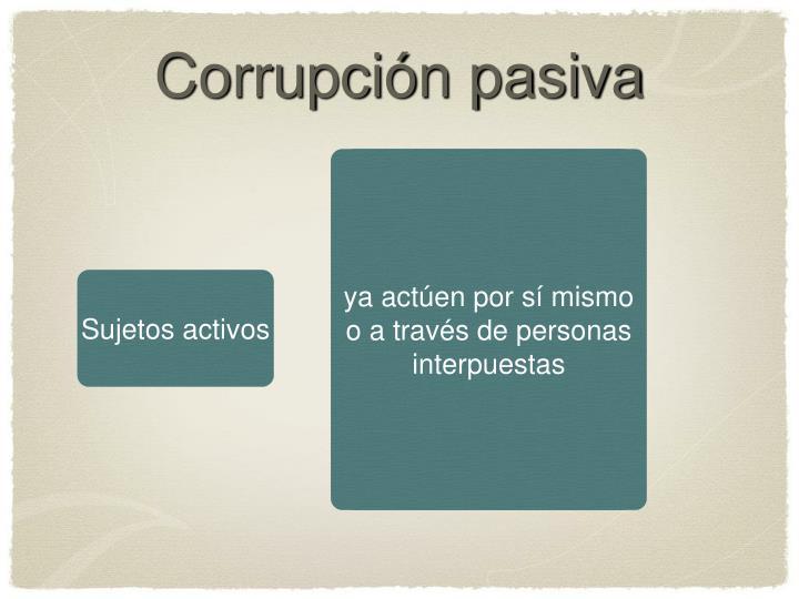 Corrupción pasiva
