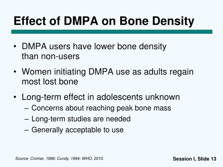 Effect of DMPA on Bone Density