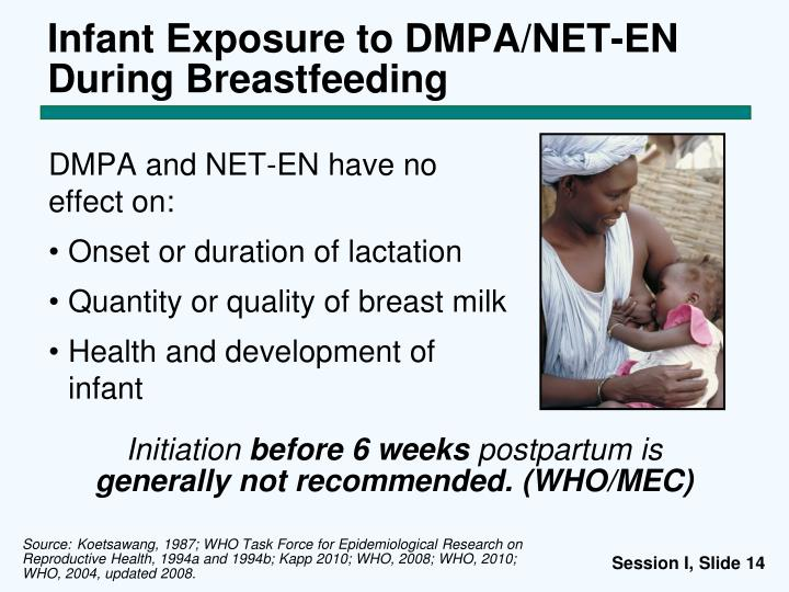 Infant Exposure to DMPA/NET-EN