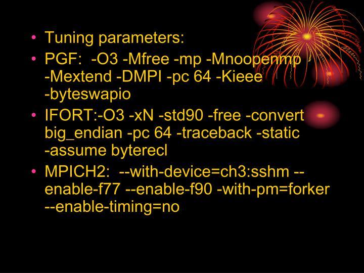 Tuning parameters: