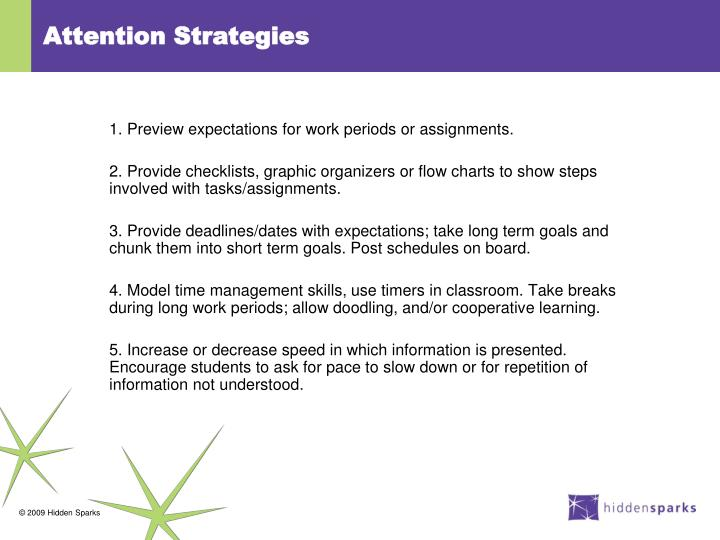 Attention Strategies