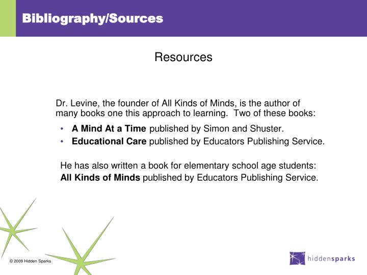 Bibliography/Sources