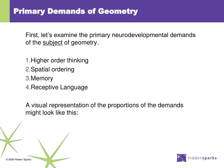 Primary Demands of Geometry