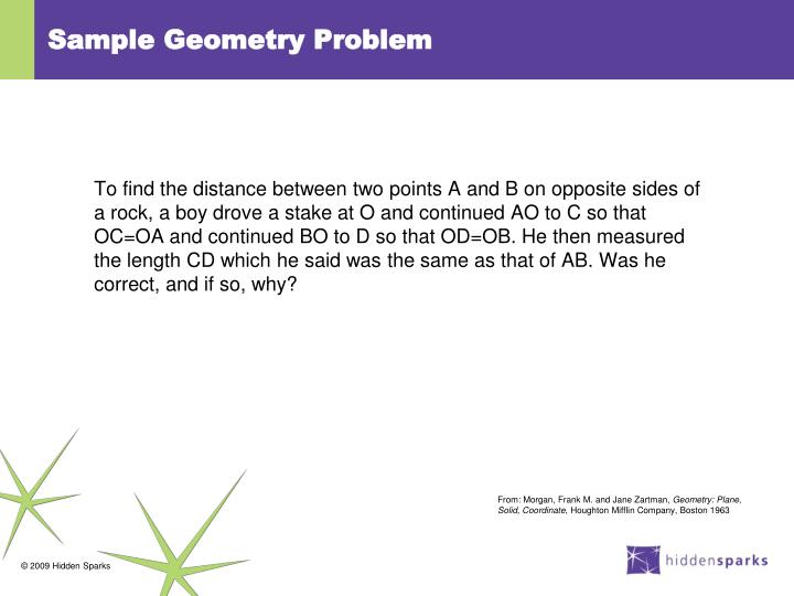 Sample Geometry Problem