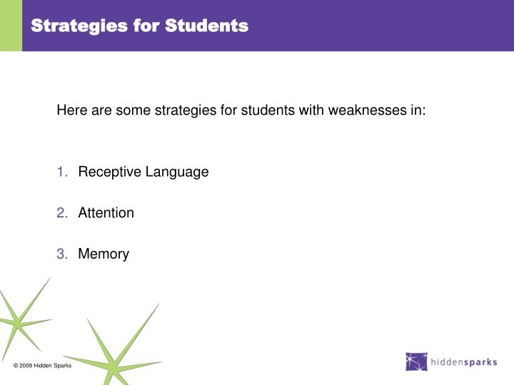 Strategies for Students
