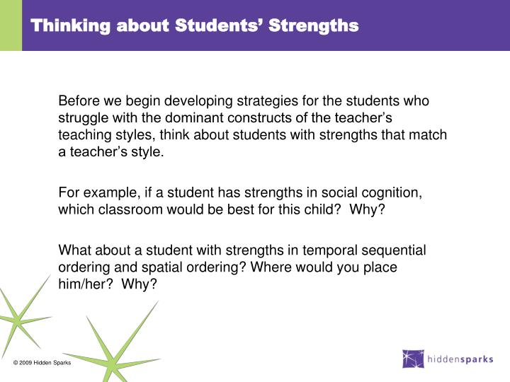 Thinking about Students' Strengths