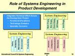 role of systems engineering in product development