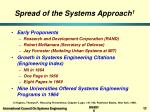 spread of the systems approach 1