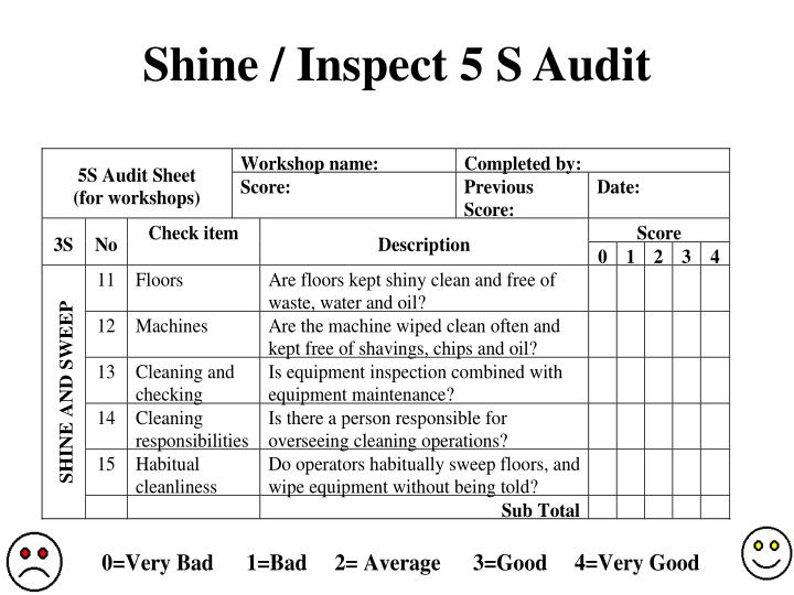 Shine inspect 5 s audit