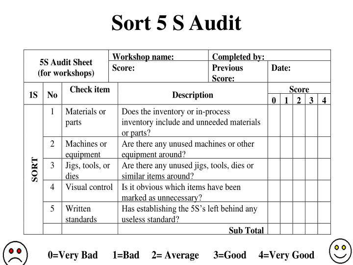 Sort 5 s audit