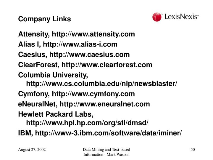 Company Links