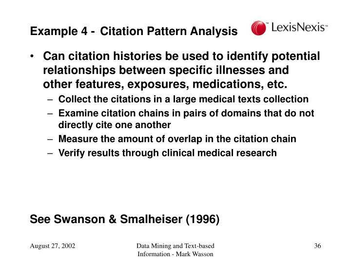 Example 4 - Citation Pattern Analysis