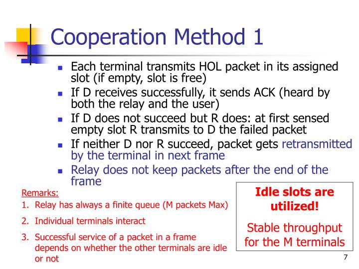 Cooperation Method 1