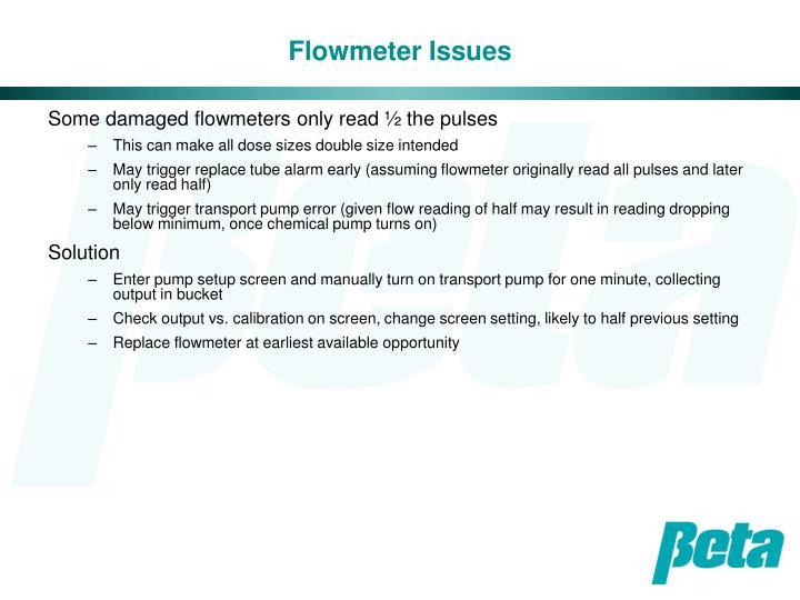 Flowmeter Issues