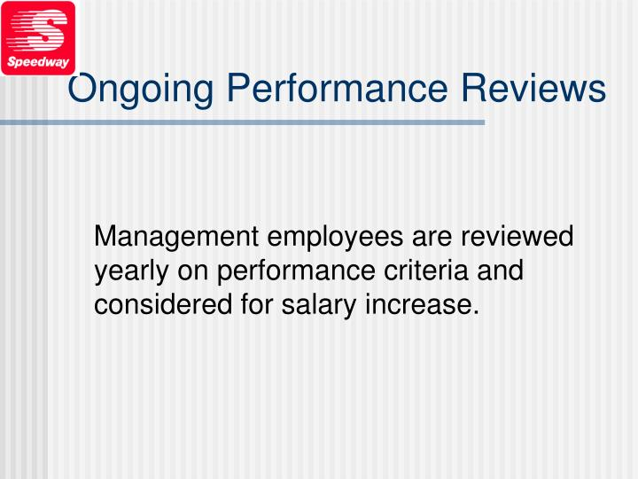 Ongoing Performance Reviews