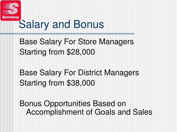 Salary and Bonus
