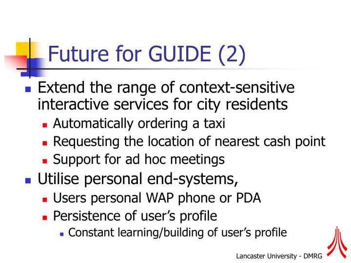 Future for GUIDE (2)