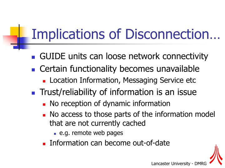 Implications of Disconnection…