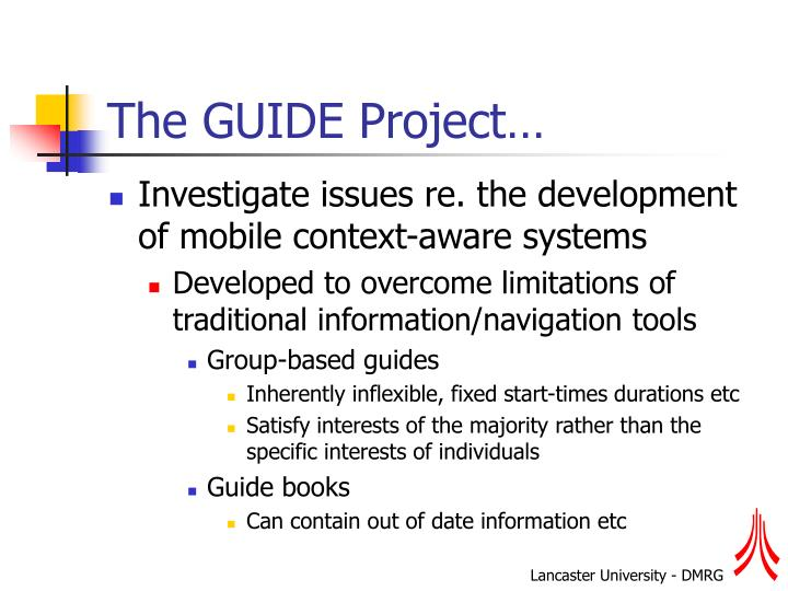 The guide project