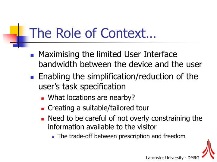 The Role of Context…