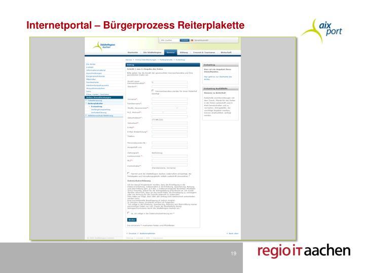Internetportal – Bürgerprozess Reiterplakette