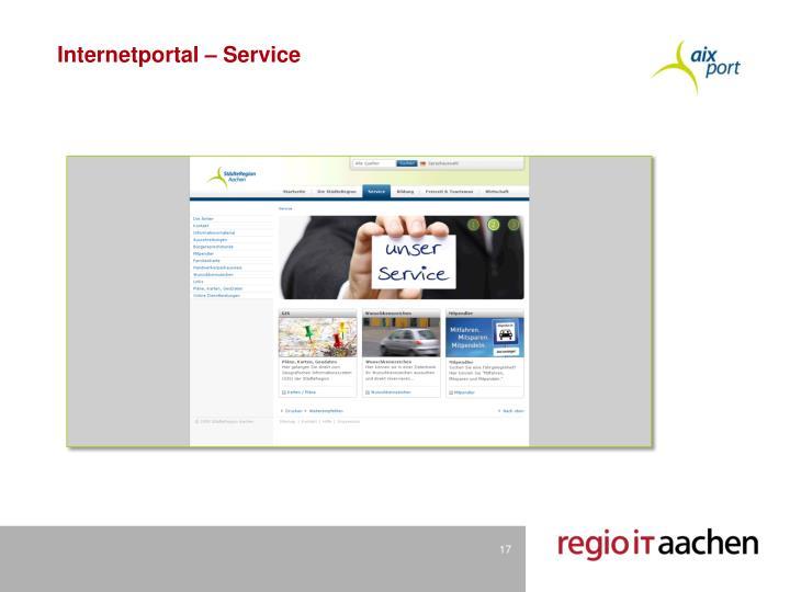 Internetportal – Service