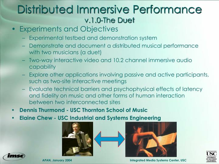 Distributed Immersive Performance