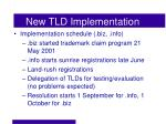 new tld implementation1