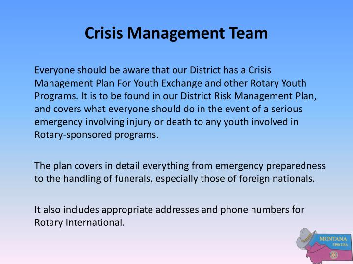 Crisis Management Team