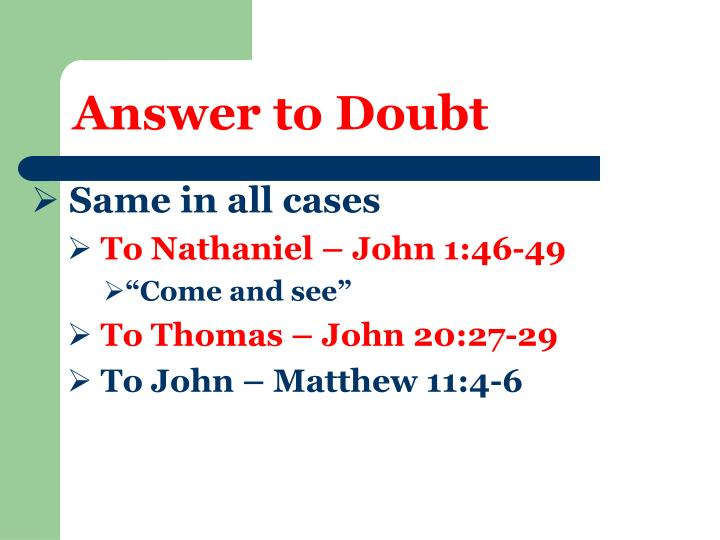 Answer to Doubt