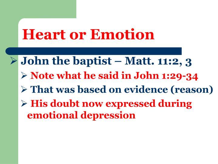 Heart or Emotion
